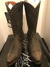 Dan Post Western Studded Leather Boots Size 7
