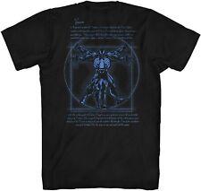 Vitruvian Man Venom Front/Back Avengers Tee Adult Tshirt Graphic Men's T-Shirt