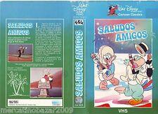SALUDOS AMIGOS (1942) WALT DISNEY COVER VHS 1ª EDIZIONE 1982, NO VHS
