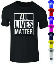 Unisex * ALL LIVES MATTER * Anti Racism Protest Support Retro T Shirt Top S-XXL