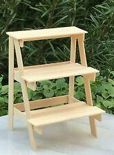 Miniature Dollhouse FAIRY GARDEN Accessories ~ Mini Wood Plant Ladder ~ NEW