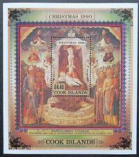 Cook Islands 1990 Christmas Mini Sheet. MNH.