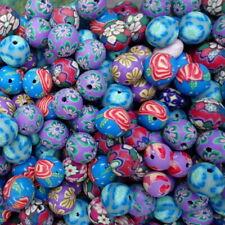 25 Mixed Colour Polymer Fimo Clay Round Beads (E19)