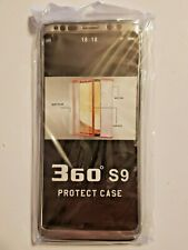 360 degrees SAMSUNG GALAXY S-9 PROTECTIVE CASE, SILVER, MODERN STYLE, NICE!