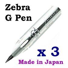 3 x Zebra G pen nib for Copperplate, Spencerian writing & Manga, Comic drawing