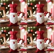 Cute Merry Christmas Santa Wine Bottle Bag Cover Xmas Dinner Party Table Decor