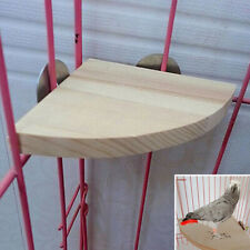 New Pet Parrot Wood Platform Stand Rack Toy Hamster Branch Perches For Bird Cage