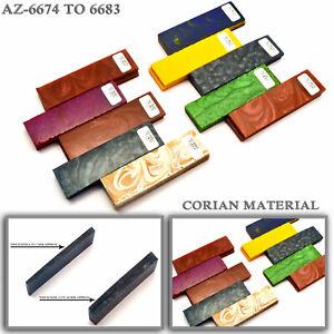 "Corian Knife  Handle Blanks Figured Exotic Corian 5"" (AZ-6674  to 6683)"