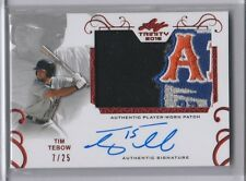 2016 Leaf Trinity Tim Tebow Red SP Logo Patch Auto RC #7/25 NY Mets Autograph