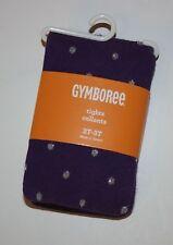 New Gymboree Purple Sparkle Polka Dot Tight Tights Size 2T-3T Prima Ballerina