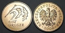 2006 Poland 2 Grosze Brass Coin BU Very Nice KM# 277