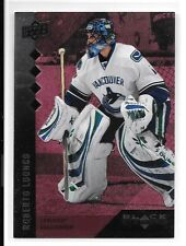 09 10 UD Black Diamond Roberto Luongo Quad Diamond Ruby #ed /100 BV $30