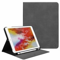 For iPad 6th Gen 9.7 inch 2018 Tablet Multi-Angled Case with Apple Pencil Holder