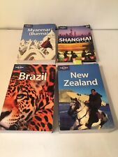 Lonely Planet Travel Guides Shanghai New Zealand Burma Brazil Auction Finds 702