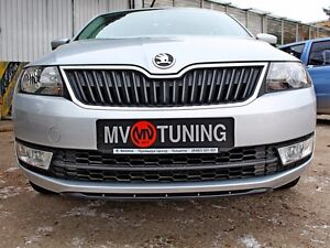 MV-Tuning Front Spoiler(splitter) for Bumper for Skoda Rapid 2012-2017