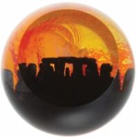 Caithness Glass paperweight Stonehenge Landmarks Golden Sunrise U18032