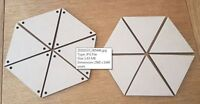 Large Wooden Bunting Triangles, Wall Art , Craft Plaque 10cm 12cm, 15cm, 20cm