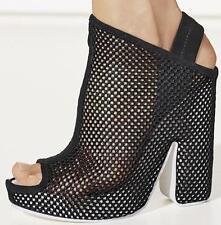 BALENCIAGA Mesh Sandals CHUNKY HEEL MULES UK6 Eu39 US9 New