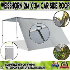 2X3M UV Waterproof Car Side Sun Shade Camping Tent Awning Extension Piece - Grey
