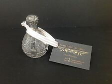 Victorian Cut-Glass Scent bottle HM Silver top with Hallmark for Birmingham 1898