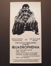 *The Who *Quadrophenia* Original Promo Handbill Flyer – Pete Townsend – Fine*