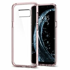 Spigen Samsung Galaxy S8 Ultra Hybrid Shockproof Bumper Clear TPU Case Cover Crystal Pink