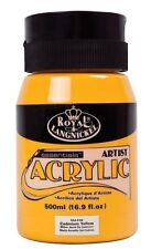 Royal & Langnickel Student Artist 500ml Essentials Acrylic Paint Large Pots Cadmium Yellow
