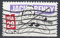 USA Briefmarke gestempelt 29c Jack Benny aus Markenheft / 178