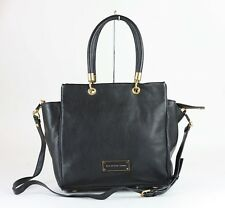 MARC JACOBS Black Leather Too Hot To Handle Bentley Tote Bag