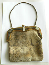 ca.1870s Ladies HANDBAG/ PURSE w/ Rubis and Mother of Pearl, Austria Authentic