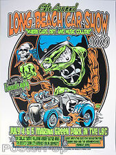 Dirty Donny Long Beach Car Show Silkscreen Concert Poster 2009 Great White Mint