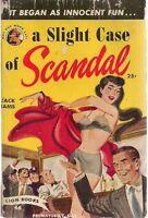 A SLIGHT CASE OF SCANDAL by Jack Iams (1950) Lion sleaze pb