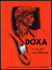 1940s Original Vintage Doxa Watch Stauffer Statue Sculpture Art Print Ad