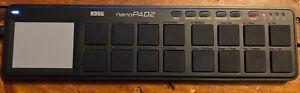 Korg NanoPAD2 Slim-Line USB MIDI Drum Pad Controller Black