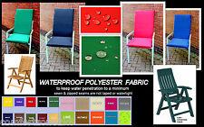 Zippy SML Waterproof Fabric Bench Cushion 100cm X 41cm Garden Furniture Seat Pad