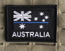 Thin Blue Line, Australia, Police, Australian Flag, Patch.