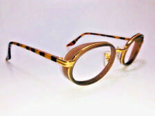 VINTAGE B&L RAY-BAN USA W2814 BROWN/GOLD  SIDE-CUPS Steam Punk Tortoise Temples