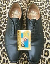 Church'S Men Cap Toe Dress Shoes~Black Leather~Made In England~Us :7.5~Uk :6.5 F