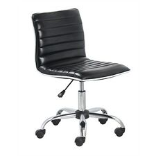 BTExpert® Swivel Low to Mid Back Armless Ribbed Designer Task Leather soft uphol