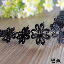 2.5cm,1Yard lace Edge Trim Embroidered Fabric DIY Ribbon Sewing Applique  LS38