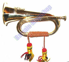 Military Solid Brass Bugle Royal Artillery Badge Army Music Band Bespoke