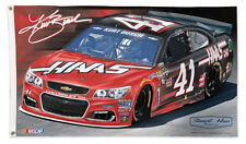 KURT BUSCH Haas-CNC #41 Chevy Huge 3'x5' Deluxe-Edition OFFICIAL NASCAR FLAG