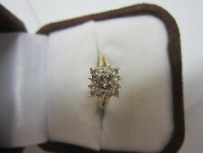 GORGEOUS ESTATE 14 KT GOLD .80 CTW CHAMPAGNE DIAMOND RING !!!!!!!!!!