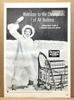 "Vintage 1960 Miss Rheingold Extra Dry Lager Beer Emily Banks Snow Print Ad 11"""