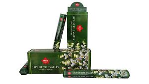 IBCO Lily of the Valley Hexa Incense Sticks,20 Sticks per pk (6 packs) =120 stks