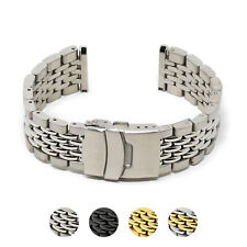 StrapsCo Stainless Steel Beads of Rice Metal Bracelet Watch Band Strap
