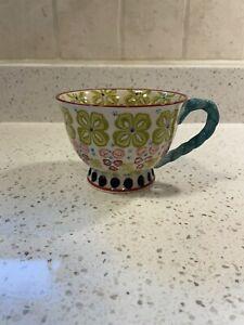 Anthropologie floral Elka Ayaka pedestal tea cup