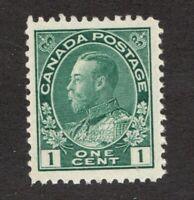 #104  -  Canada -  1911  -  1 Cent  -  MH  - F/VF -  superfleas
