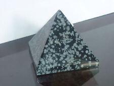 cristalloterapia PIRAMIDE OSSIDIANA FIOCCO DI NEVE A++ cristallo scultura statua