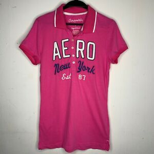 Pink Aeropostale Polo T-shirt - Brand New Tee Top Shirt - Size M L